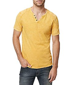 Buffalo by David Bitton Men's Short Sleeve Split Neck Tee