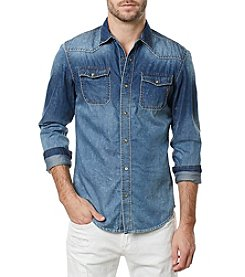 Buffalo by David Bitton Men's Long Sleeve Denim Woven Shirt