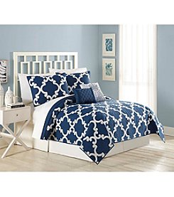 MaryJane's Home Textured Treillis 5-pc. Quilt Set