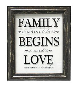 Fetco® Family Begins Love Wall Art