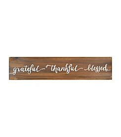 Sheffield Home® Grateful Thankful Blessed Wall Sign