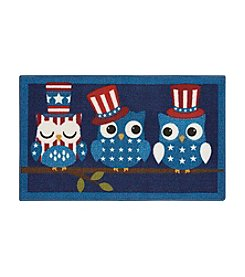 Nourison Essential Elements Owls in Hats Accent Rug