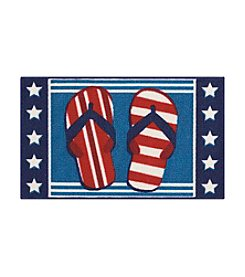 Nourison Essential Elements Stars/Stripes Flops Accent Rug