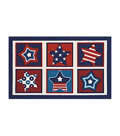 Nourison Essential Elements Stars Grid Accent Rug