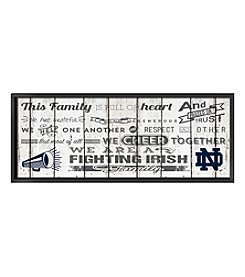 Kindred Hearts NCAA® University of  Notre Dame Fighting Irish Family Cheer Wall Art