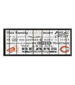 Kindred Hearts NFL® Chicago Bears Family Cheer Wall Art