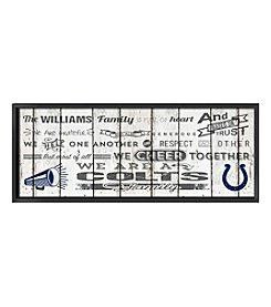 Kindred Hearts NFL® Indianapolis Colts Family Cheer Wall Art