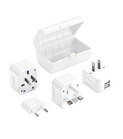 Lewis N. Clark® Adapter Plug Kit With 2.1A Dual USB Charger