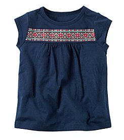 Carter's® Girls' 2T-8 Puff Screen Print Tee