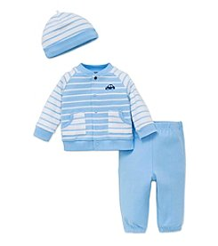 Little Me® Baby Boys 3-Piece Car Striped Set