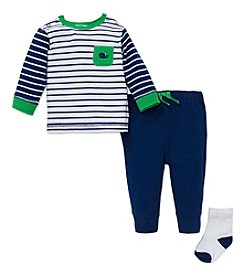 Little Me® Baby Boys 3-Piece Whale Jogger Set