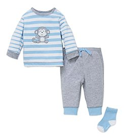Little Me® Baby Boys 3-Piece Monkey Jogger Set