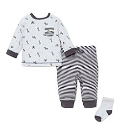 Little Me® Baby Boys 3-Piece Safari Jogger Set