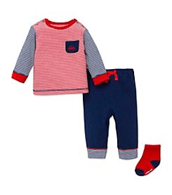 Little Me® Baby Boys 3-Piece Car Jogger Set