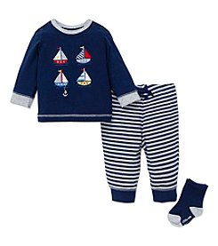 Little Me® Baby Boys 3-Piece Sailboat Jogger Set