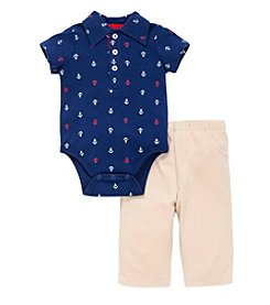 Little Me® Baby Boys 2-Piece Anchor Bodysuit And Pant Set