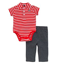 Little Me® Baby Boys 2-Piece Car Striped Bodysuit And Pants Set