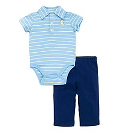 Little Me® Baby Boys 2-Piece Bear Striped Bodysuit And Pant Set