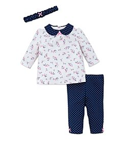 Little Me® Baby Girls' 3-Piece Floral Tunic Set