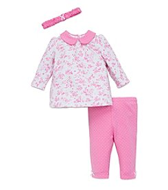 Little Me® Baby Girls' 3-Piece Bunny Floral Tunic Set