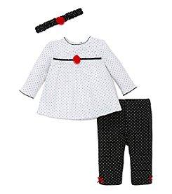 Little Me® Baby Girls' 3-Piece Polka-Dot Tunic Set