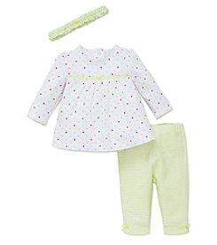 Little Me® Baby Girls' 3-Piece Multi Polka-Dot Tunic Set