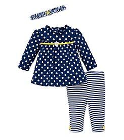 Little Me® Baby Girls' 3-Piece Daisy Dot Tunic Set