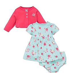 Little Me® Baby Girls' 3-Piece Floral Dress And Cardi Set