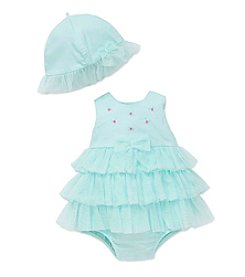 Little Me® Baby Girls' Tiered Popover Romper with Hat