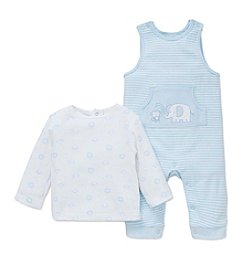 Little Me® Baby Boys 2-Piece Safari Overalls Set