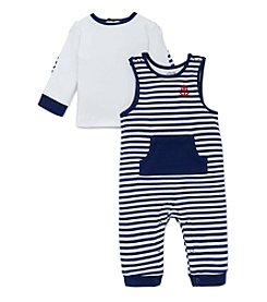 Little Me® Baby Boys 2-Piece Anchor Overall Set