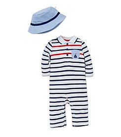 Little Me® Baby Boys 2-Piece Striped Set With Hat
