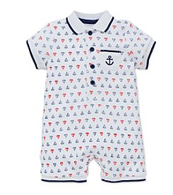 Little Me® Baby Boys Anchor Printed Romper