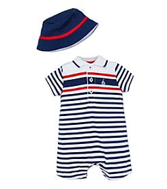 Little Me® Baby Boys Striped Sailor Romper With Hat