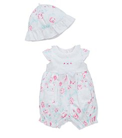 Little Me® Baby Girls' Floral Romper With Hat