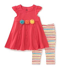 Kids Headquarters® Baby Girls' 2-Piece Tunic Printed Top And Capri Set