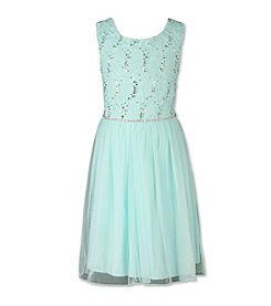 Speechless® Girls' 7-16 Glitter Rhinestone Dress With Belt