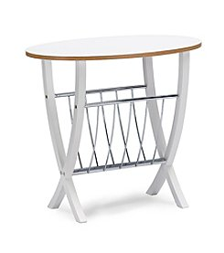 Baxton Studios Portici Table with Magazine Holder