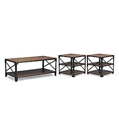 Baxton Studios Holden 3-Pc. Table Set