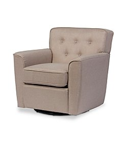 Baxton Studios Canberra Swivel Lounge Chair