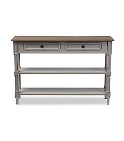 Baxton Studios Edouard 2-Drawer Console Table