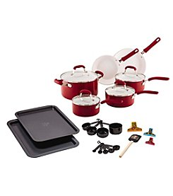 Guy Fieri 25-pc. Red Ceramic Cookware Set