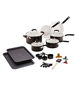 Guy Fieri 25-pc. Black Ceramic Cookware Set