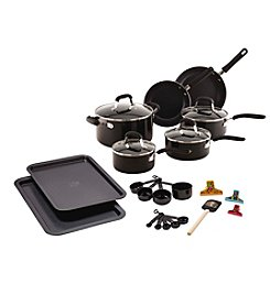 Guy Fieri 25-pc. Black Nonstick Aluminum Cookware Set