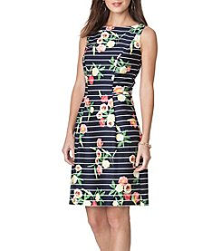 Chaps® Floral Stripe Dress