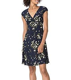 Chaps® Enzo Floral Matte Jersey Dress