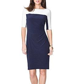 Chaps® Colorblock Matte Jersey Dress