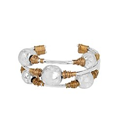 Robert Lee Morris Soho™ Sculptural Bead Wire Wrapped Cuff Bracelet