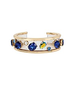 Betsey Johnson® Mixed Multi Colored Stone Cuff Bracelet