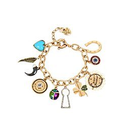 Betsey Johnson® Mixed Multi Charm Bracelet